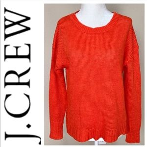 NEW J. CREW Long Sleeve Crewneck Linen SWEATER Top